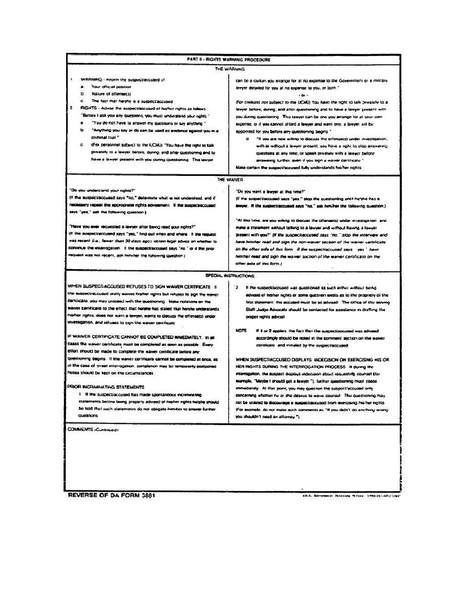 Figure 1-4. DA Form 3881, Reverse
