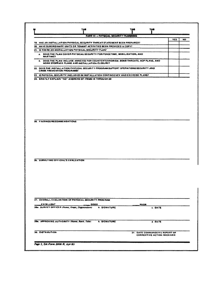 Figure 2 4 physical security survey report da form 2806 for Physical security survey template