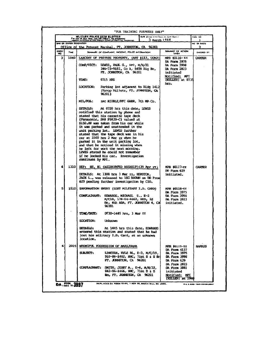 Figure 1-8. DA Form 3997.