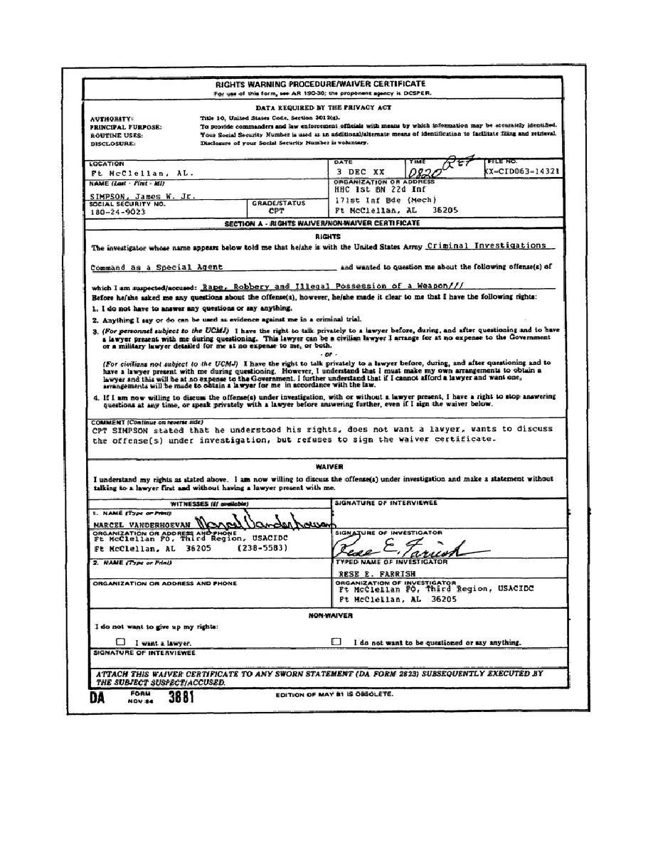 Figure 3-8. DA Form 3881.